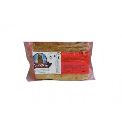 Lomo al Pimentón Embutidos Torrefrío 350 g etiqueta