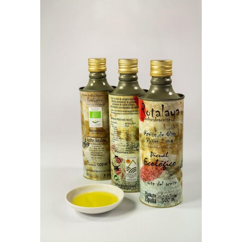 Muestra de Aceite de Oliva Virgen Extra ECOLÓGICO Picual con D.O. Sierra de Cazorla
