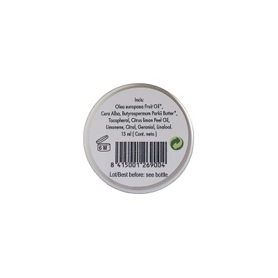 Ingredientes del Bálsamo Labial Ecológico de AOVE Sensolive 15 ml