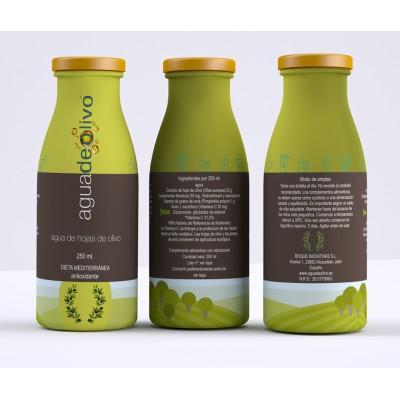 Agua de Hojas de Olivo 250 ml - Saludable, refrescante y antioxidante