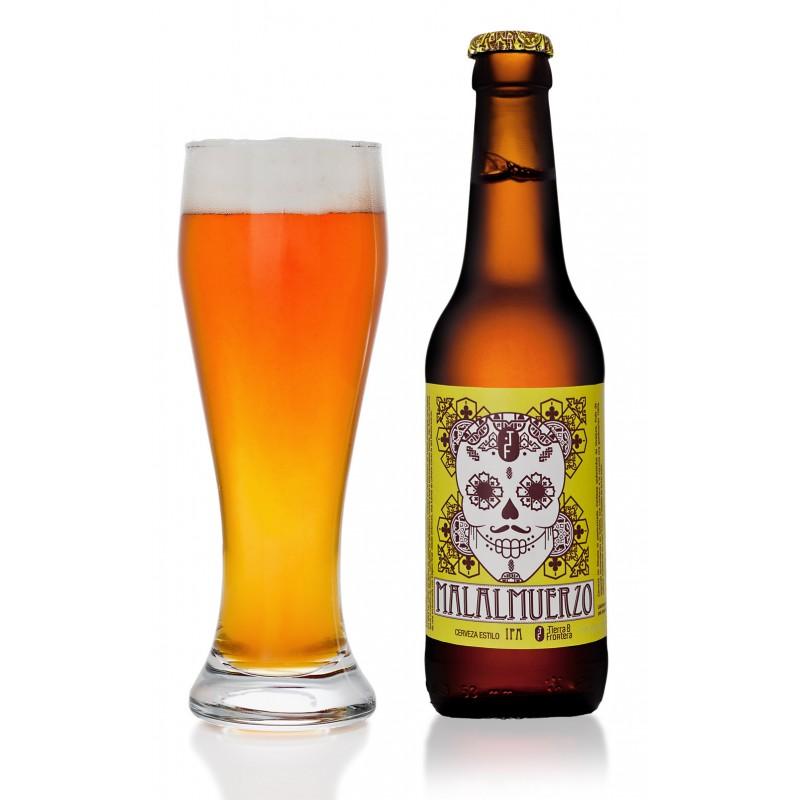 Cerveza Artesanal Malalmuerzo (Estilo IPA) 33 cl Color ámbar