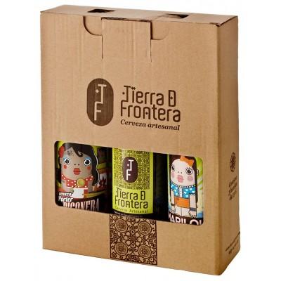 Estuche de 3 botellas de Cervezas Artesanales Tierra de Frontera 3 x 33 cl