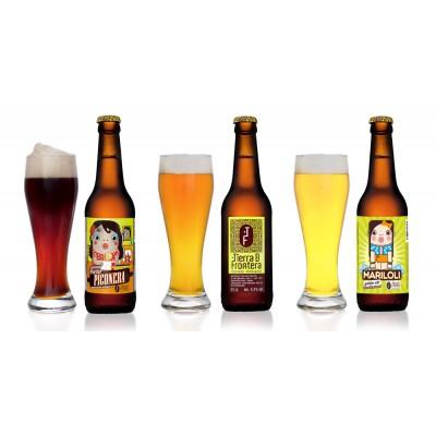 Cervezas Artesanales Piconera, Tierra de Frontera y Mariloli