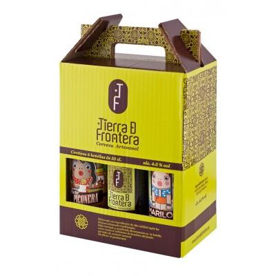 Estuche de 6 botellas de Cervezas Artesanales Tierra de Frontera 6 x 33 cl