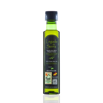 Caja con 24 botellas de Aceite de Oliva Virgen Extra Picual D.O. Sierra de Cazorla - Botella PET 250 ml Legado de Sierra