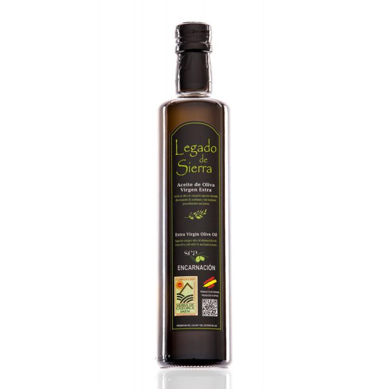 Caja con 15 botellas de 500 ml de Aceite de Oliva Virgen Extra Picual D.O. Sierra de Cazorla