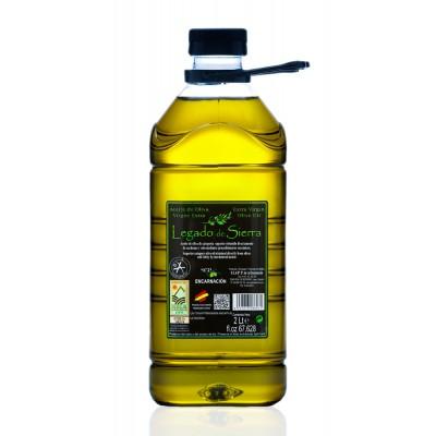 Caja con 8 garrafas de Aceite de Oliva Virgen Extra Picual D.O. Sierra de Cazorla Garrafa PET 2 l Legado de Sierra