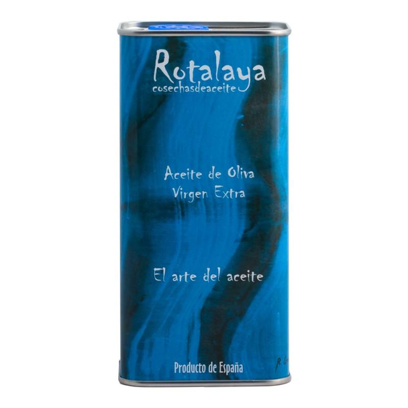 Lata de 500 ml Aceite de Oliva Virgen Extra variedad Verdial de cosecha temprana Rotalaya 500 ml