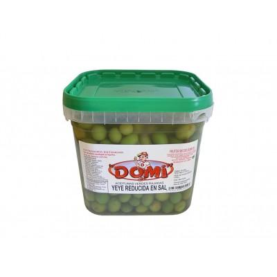 Aceitunas verdes rajadas YeYe reducida en sal DOMI 2.250 g