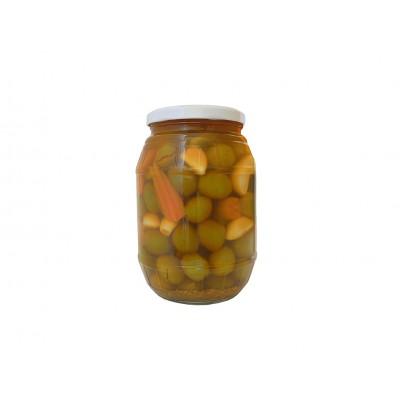 Aceituna Gazpacha con encurtidos 550 g Aceitunas y Encurtidos El Yelmo