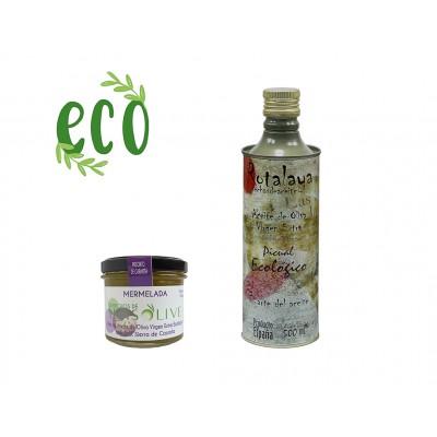 Lote Gourmet Ecológico con Jalea y AOVE con D.O. Sierra de Cazorla
