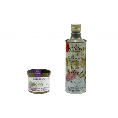 Mermelada dulce de Aceite de Oliva Virgen Extra Ecológico y AOVE Ecológico Picual con D.O. Sierra de Cazorla