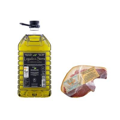 Lote Gourmet con Aceite de Oliva Virgen Extra variedad Picual con D.O. Sierra de Cazorla y Jamón Gran Reserva
