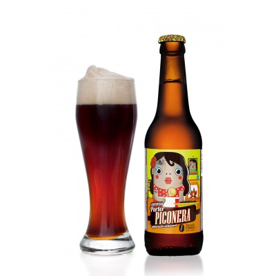 Cerveza Artesanal Piconera (Estilo Brown Porter) 33 cl Color marrón profundo