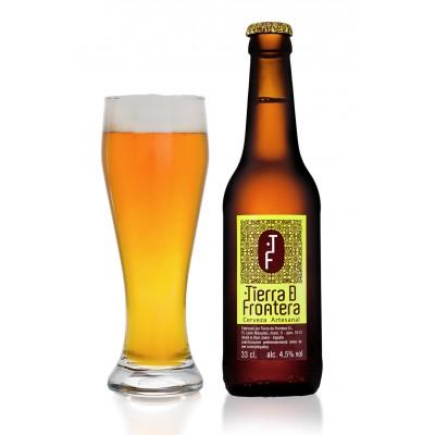 Cerveza Artesanal Tierra de Frontera (Estilo Pale Ale) 33 cl Color ámbar profundo