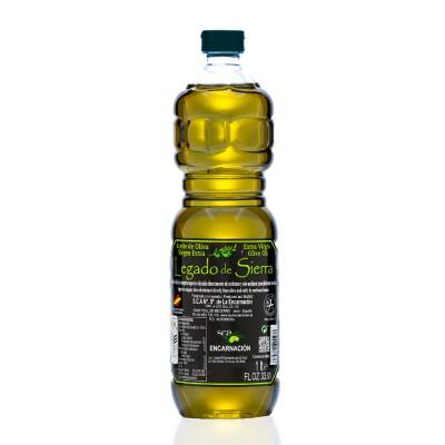 Caja con 12 botellas de 1 l de Aceite de Oliva Virgen Extra Picual D.O. Sierra de Cazorla