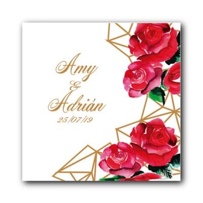 Etiqueta personalizada para detalles de boda, comunión, bautizo...