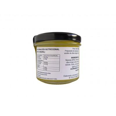 Información nutricional e ingredientes de la Mermelada natural de Naranja con AOVE 100 g Nuestro Aroma