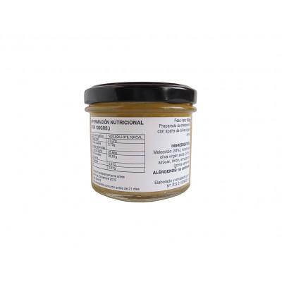 Información nutricional e ingredientes de la Mermelada natural de Melocotón con AOVE 100 g Nuestro Aroma