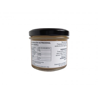 Información nutricional e ingredientes de la Mermelada natural de Fresa con AOVE 120 g Nuestro Aroma