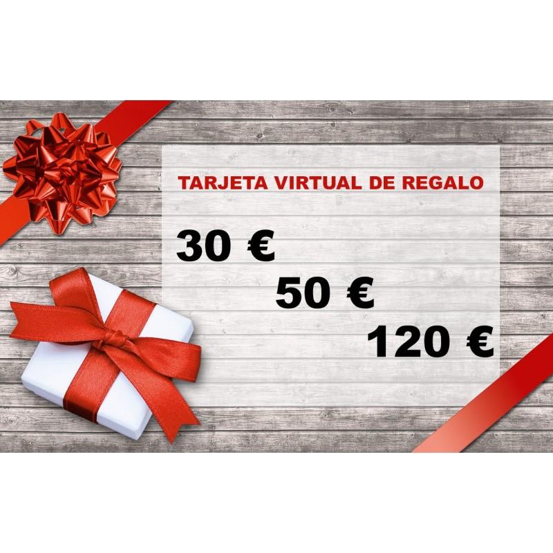 Tarjeta Virtual de Regalo por valor de 30, 50 o 120 €