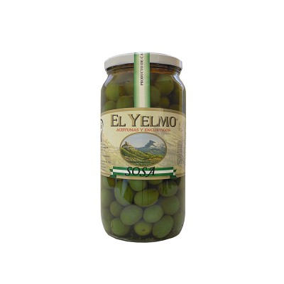 Aceituna Aliñada Verde tipo Sosa con especias naturales 575 g Aceitunas y Encurtidos El Yelmo