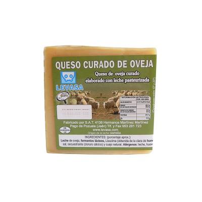 Cuña de Queso curado puro de Oveja 300-350 g Levasa