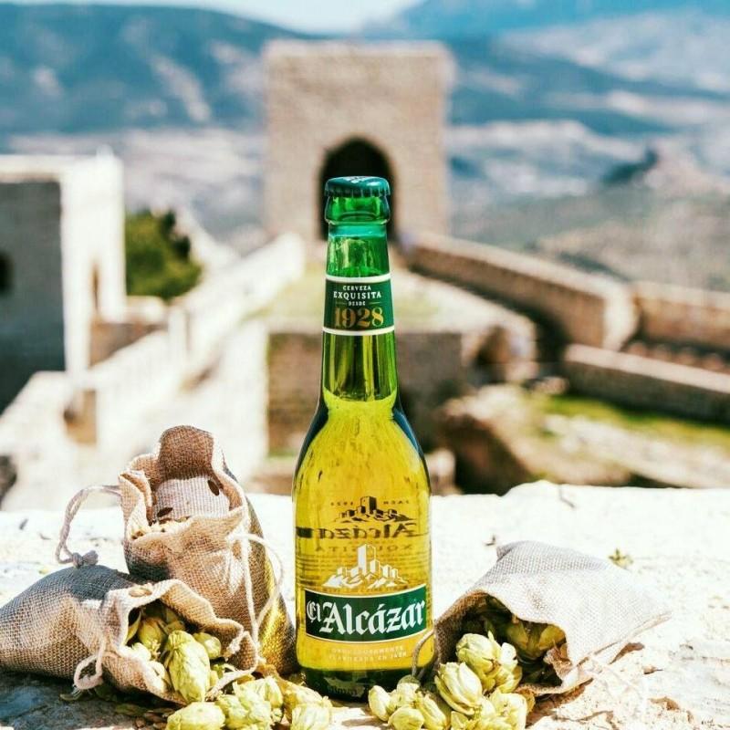 Cerveza rubia de Jaén El Alcázar 33 cl