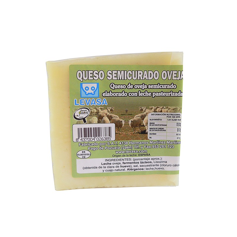 Queso semicurado puro de Oveja Levasa 100% natural