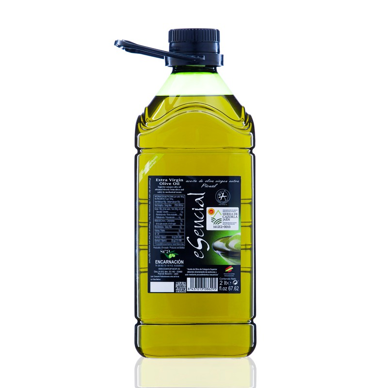 Garrafa de 2 litros de AOVE eSencial Verde Temprano, variedad Picual D.O. Sierra de Cazorla (Jaén)