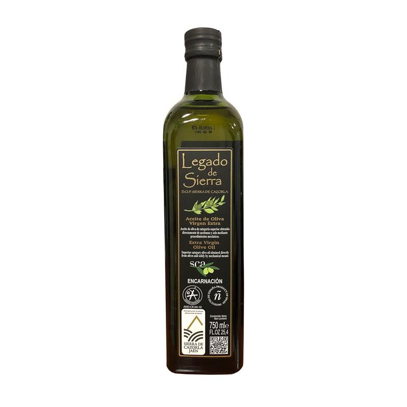 Botella de 750 ml de Aceite de Oliva Virgen Extra Picual D.O. Sierra de Cazorla